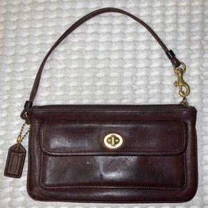 Vintage Leather Coach Mini Purse / Wristlet